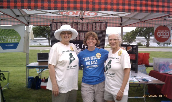 Deb, Gloria, Jane in Port, 7.2012
