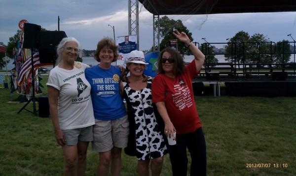 Jane, Gloria, and friends
